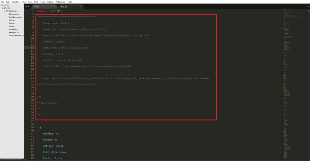 минификация кода css