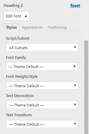 настройка h2 google fonts
