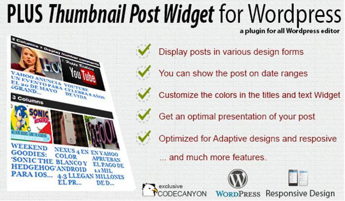 Plus-Thumbnail-Post-Widget Premium-Plugin