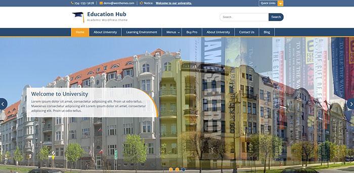 тема wordpress education hub
