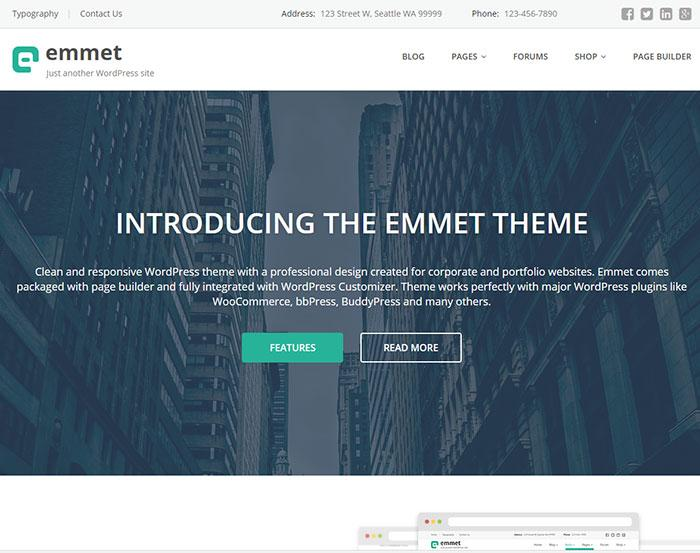 тема wordpress emmet