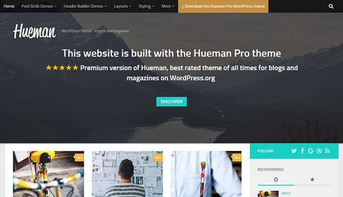 тема wordpress hueman