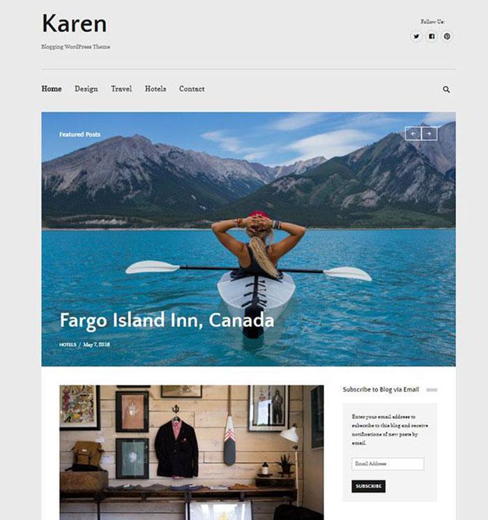 тема wordpress karen