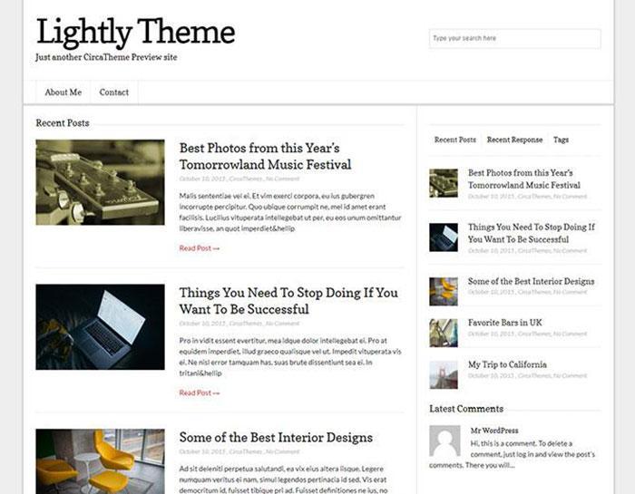 тема wordpress lightly