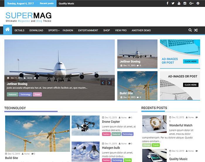 тема wordpress supermag