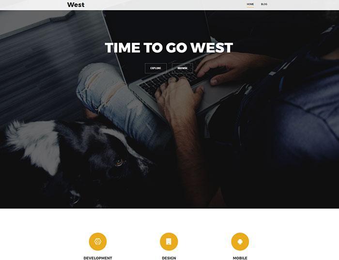 тема wordpress west