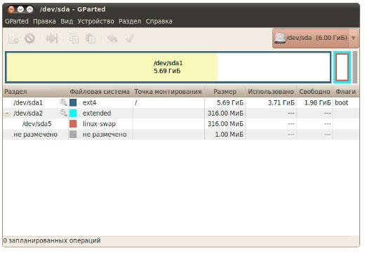 GParted Linux