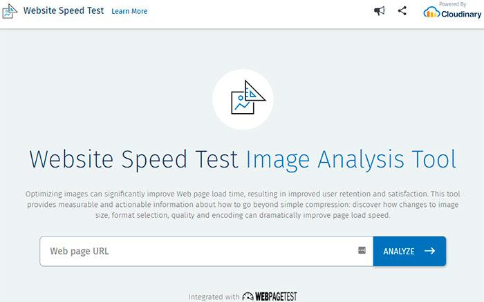 Website Speed Test Image Analysis Tool